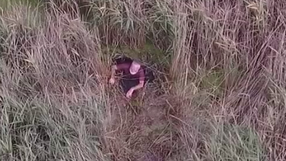 Missing Norfolk man in 'lucky' police drone rescue