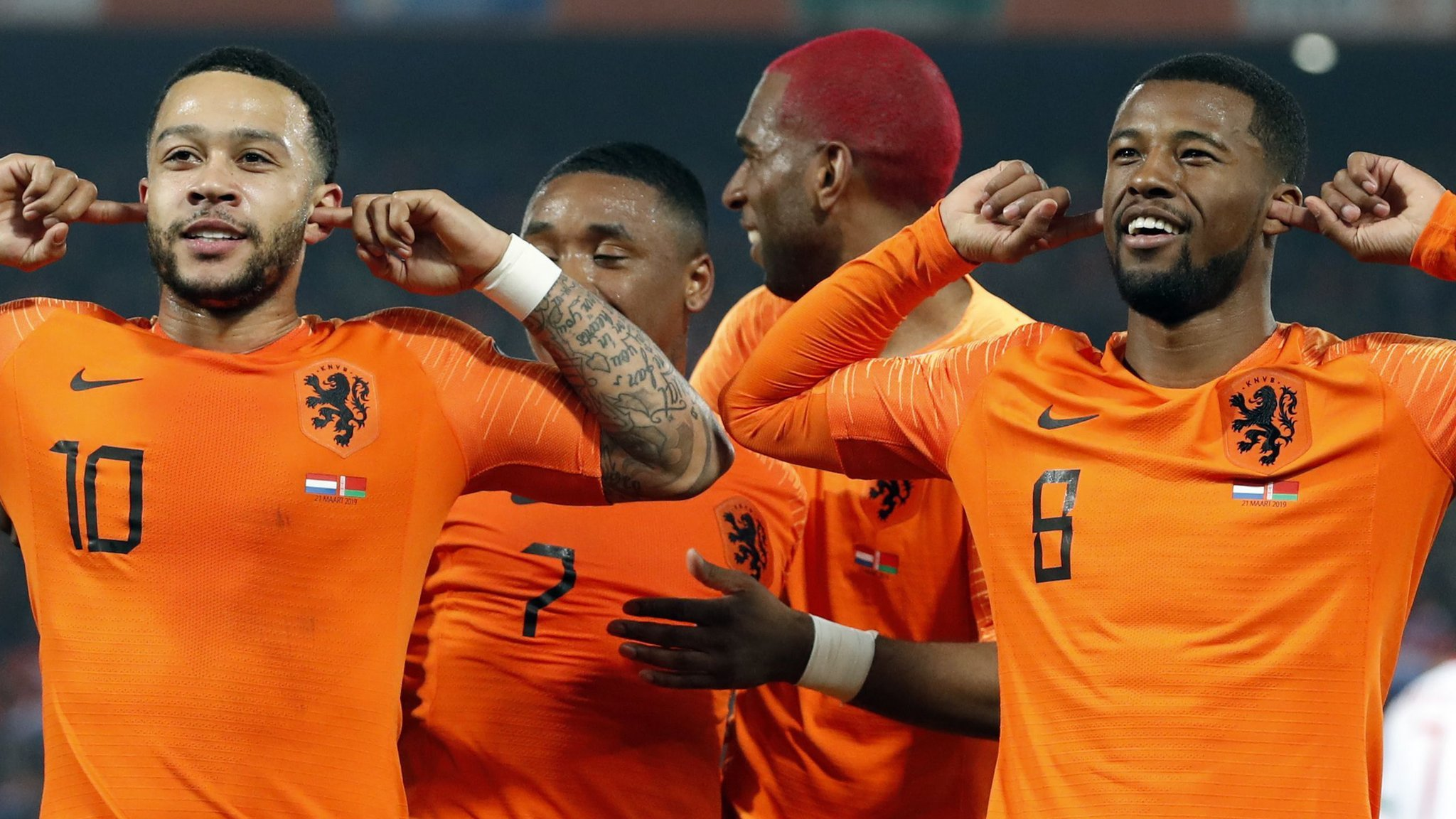 Netherlands 4-0 Belarus: Depay, Wijnaldum & Van Dijk score in big Dutch win