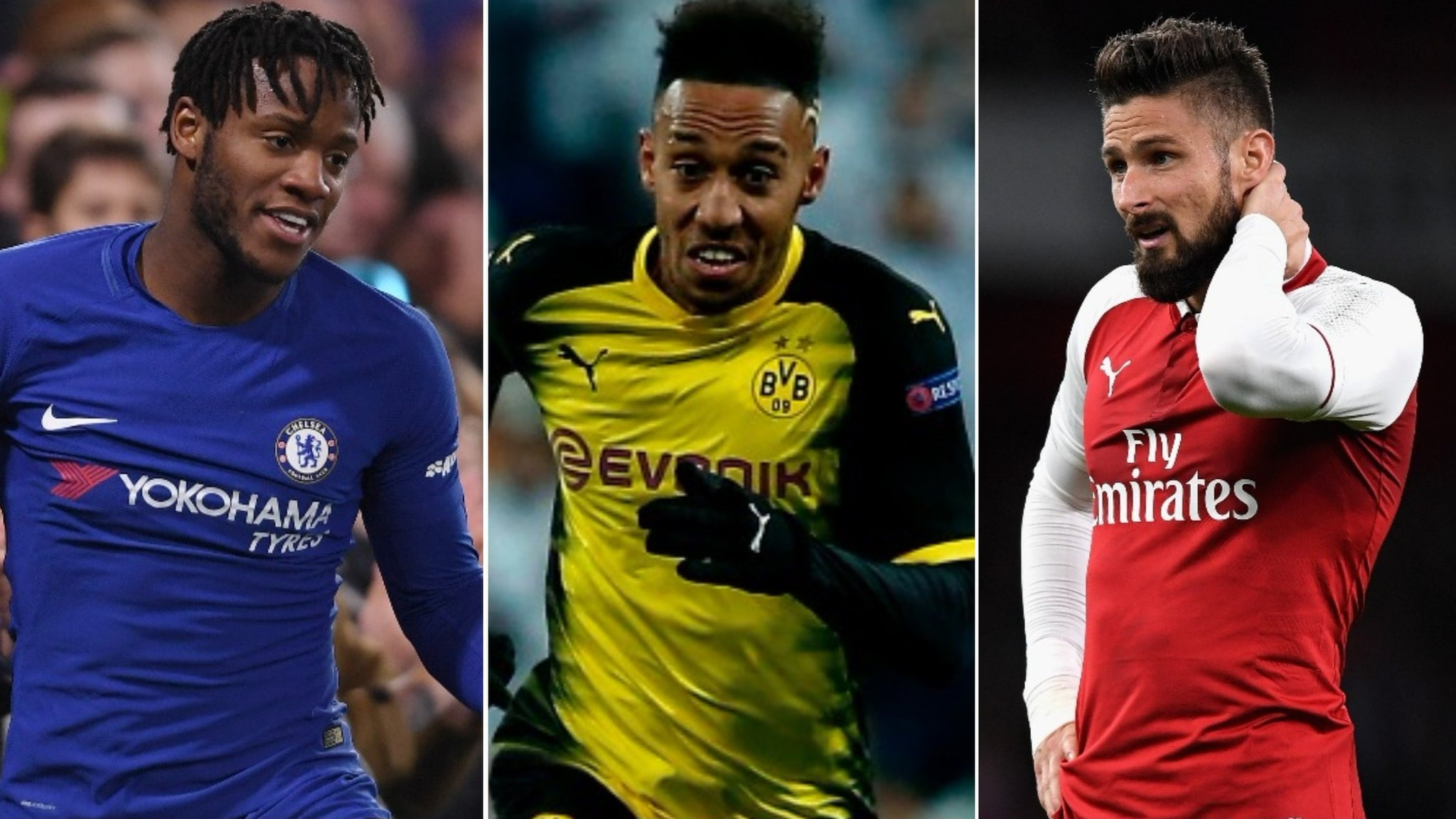 Aubameyang's Arsenal move hangs on Giroud & Batshuayi deals
