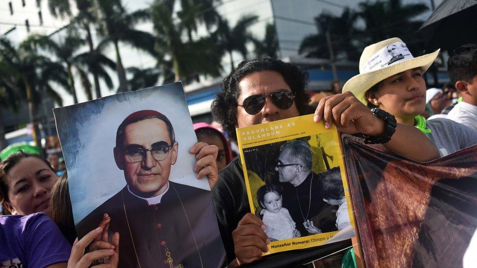 Catholics celebrate the beatification of Archbishop of San Salvador, Oscar Romero