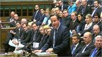 David Cameron makes a statement in the House of Commons