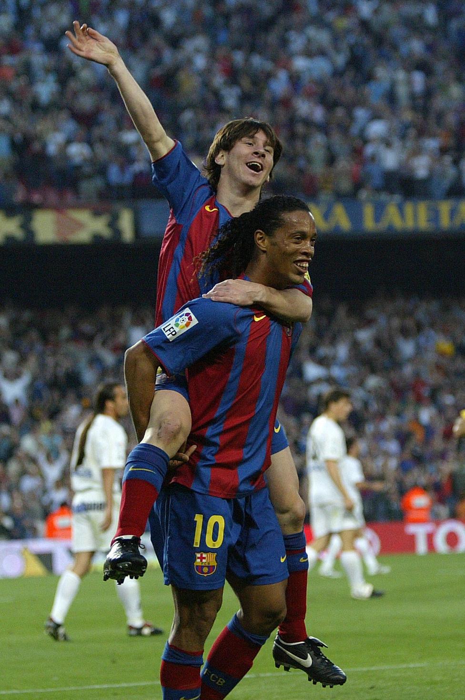 Lionel Messi y Ronaldinho