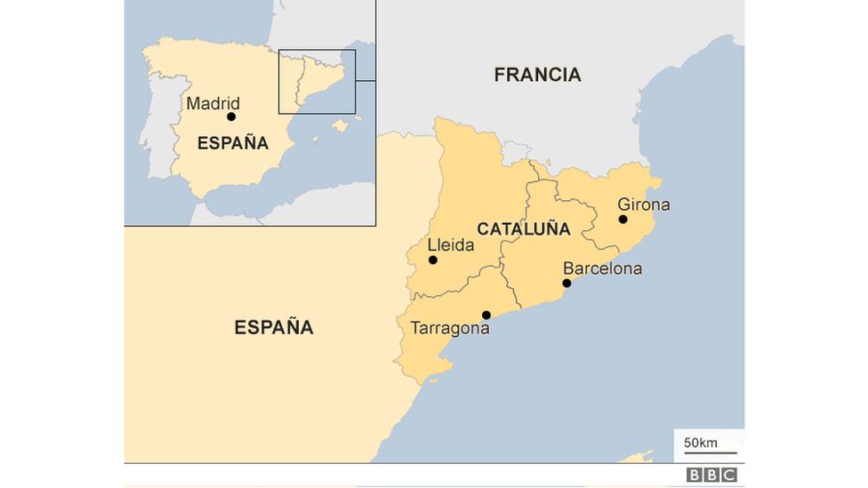 Incidentes en varias ciudades de Cataluña durante la jornada del referendo