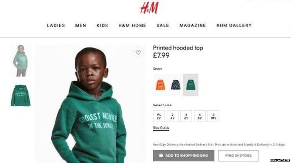 Una imagen de la sudadera de H&M criticada en Sudáfrica (Foto: H&M)