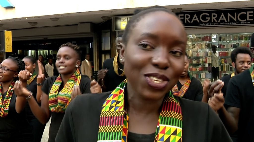 The RedFourth Chorus rocks Nairobi's streets with its songs