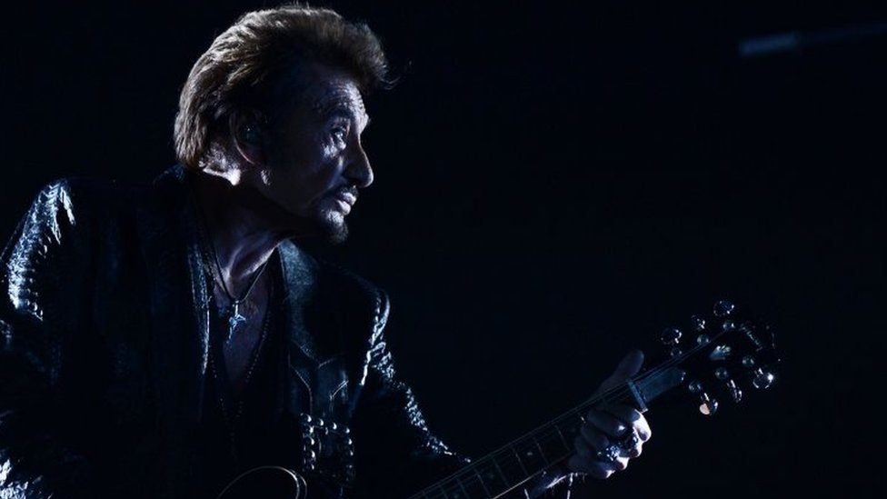 Johnny Hallyday performs in Moscow, Russia. Photo: October 2012