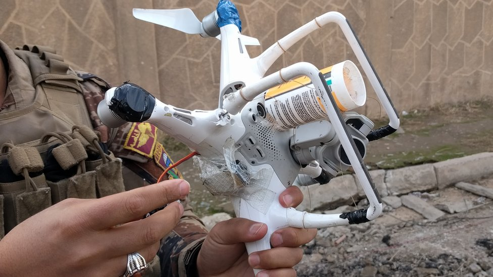 Photos show 'weaponised commercial drones' in Iraq