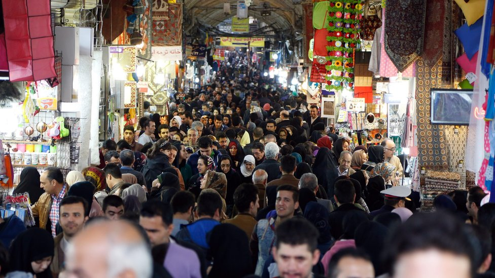 A general view of Tehran's old Bazaar on 25 January 2016.