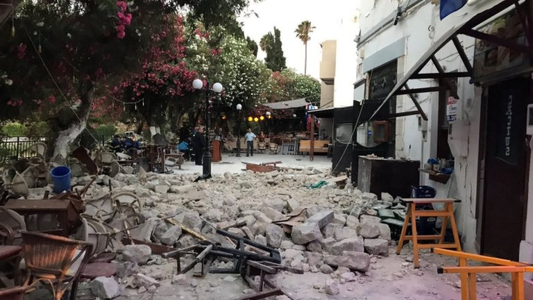 Strong quake kills two at Greek resort