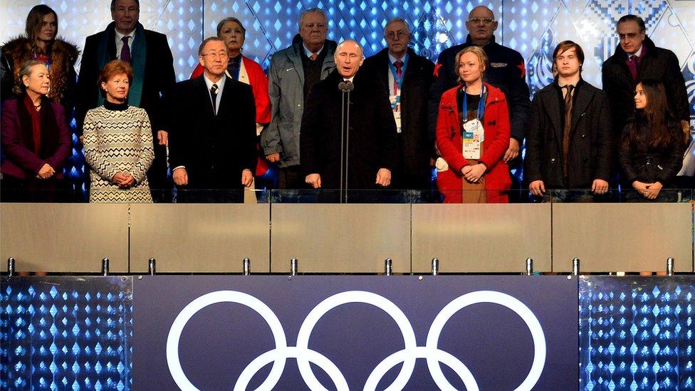 بوتين يعلن إنطلاق فعاليات الدورة الأولمبية