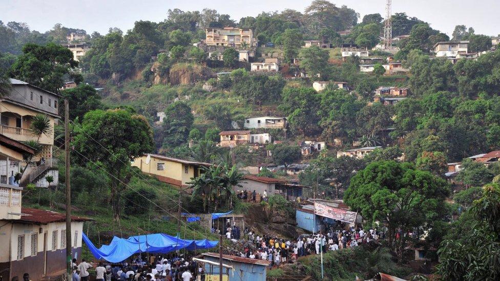 Freetown fue establecida en una zona montañosa a finales de 1700.