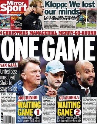 Today's newspaper gossip: Van Gaal on one-match ultimatum; Man United chase Mahrez