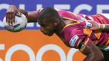 Jermaine McGillvary scores a try for Huddersfield