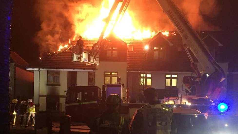 Chingford fire: Resident dies in care home blaze