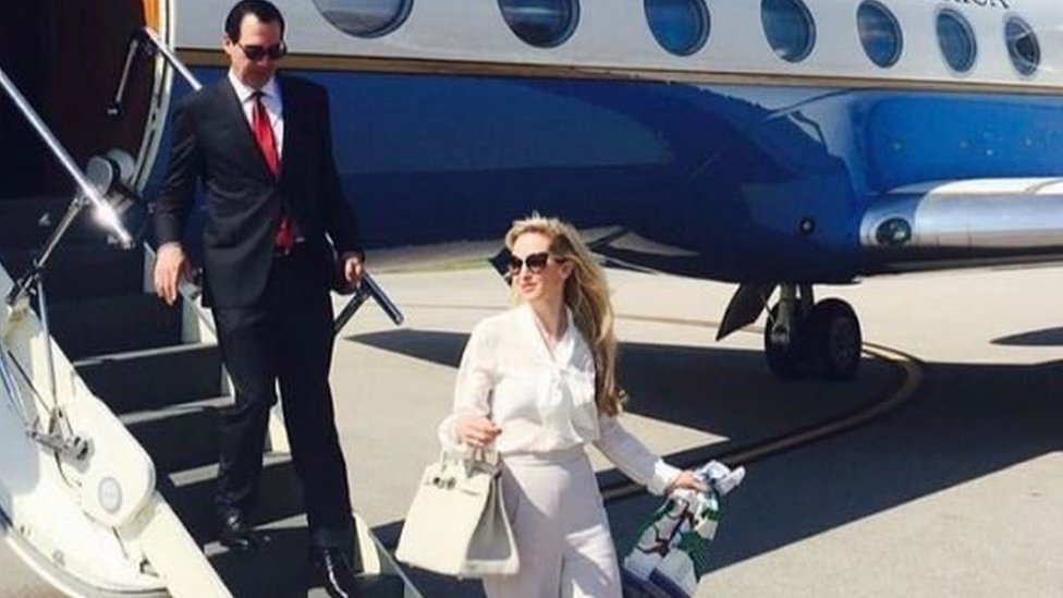 Louise Linton: The photo, the hashtags and the sarcasm