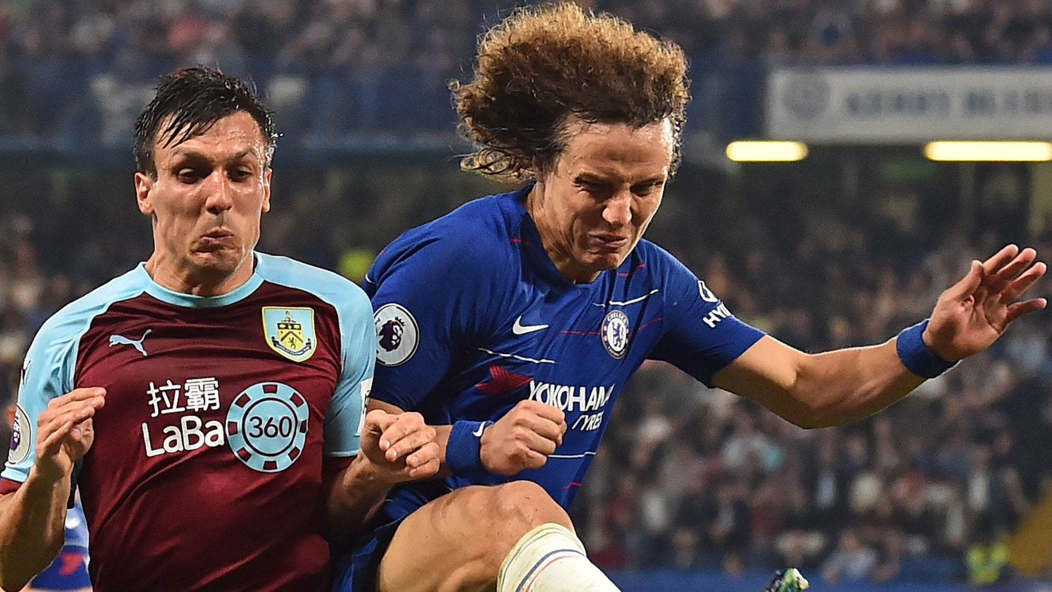 David Luiz: Chelsea defender accuses Burnley of time-wasting after draw