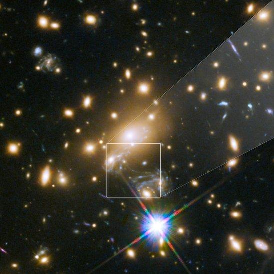 La estrella Ícaro fotografiada por Hubble.