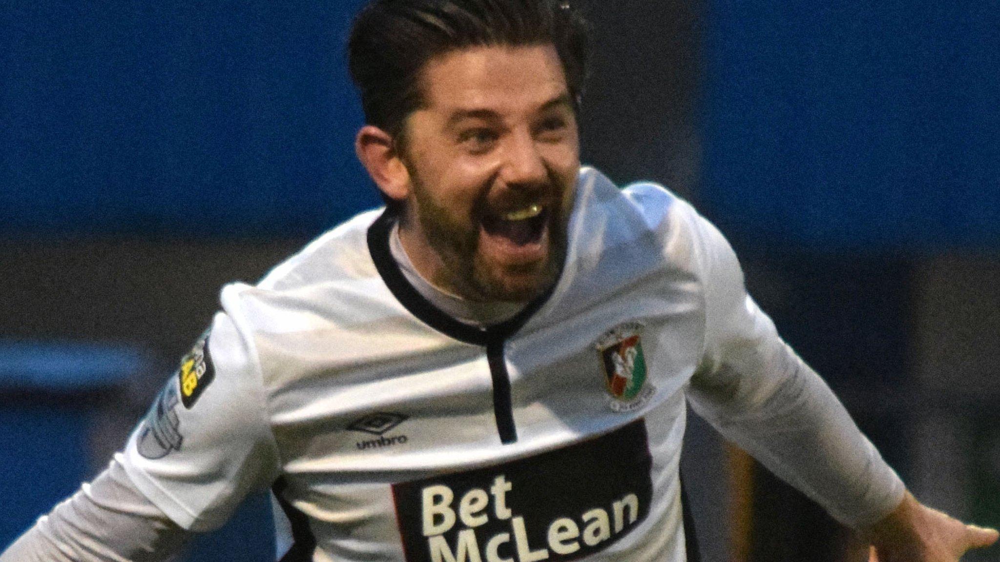 Irish Premiership: A Curtis Allen double fires Glentoran to away win over relegation battlers Newry