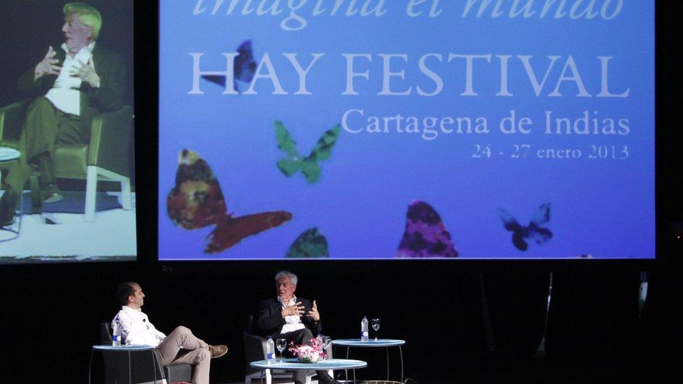 Mario Vargas Llosa en el Hay Festival de Cartagena