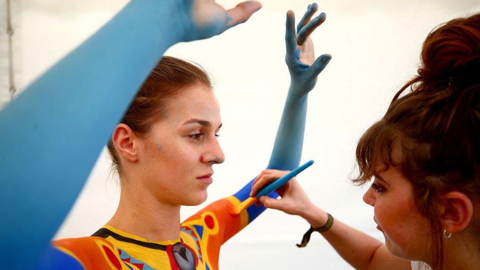 World Bodypainting Festival: Models transformed into amazing artworks