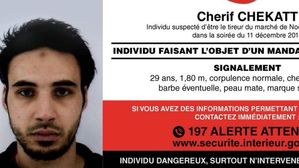 Strasbourg shooting: Police appeal to find Chérif Chekatt