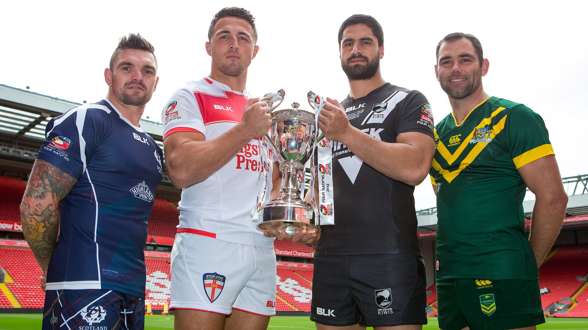 Four Nations 2016: England and Scotland ready for Australia and New Zealand
