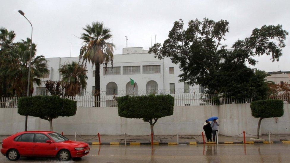 مقر السفارة الإيطالية يوم 10 يناير/كانون الثاني 2017
