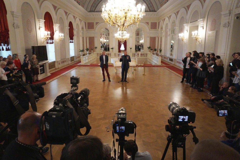 El gerente del ballet Bolshói, Vladimir Urin, en la rueda de prensa el lunes en Moscú.