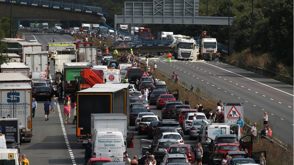 M20 motorway reopens after bridge collapse