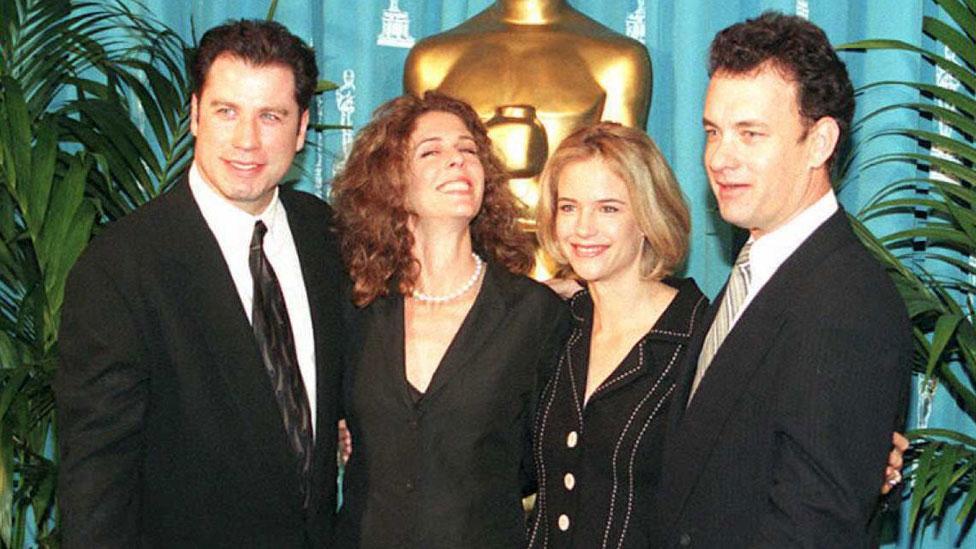 John Travolta, Rita Wilson, Kelly Preston y Tom Hanks
