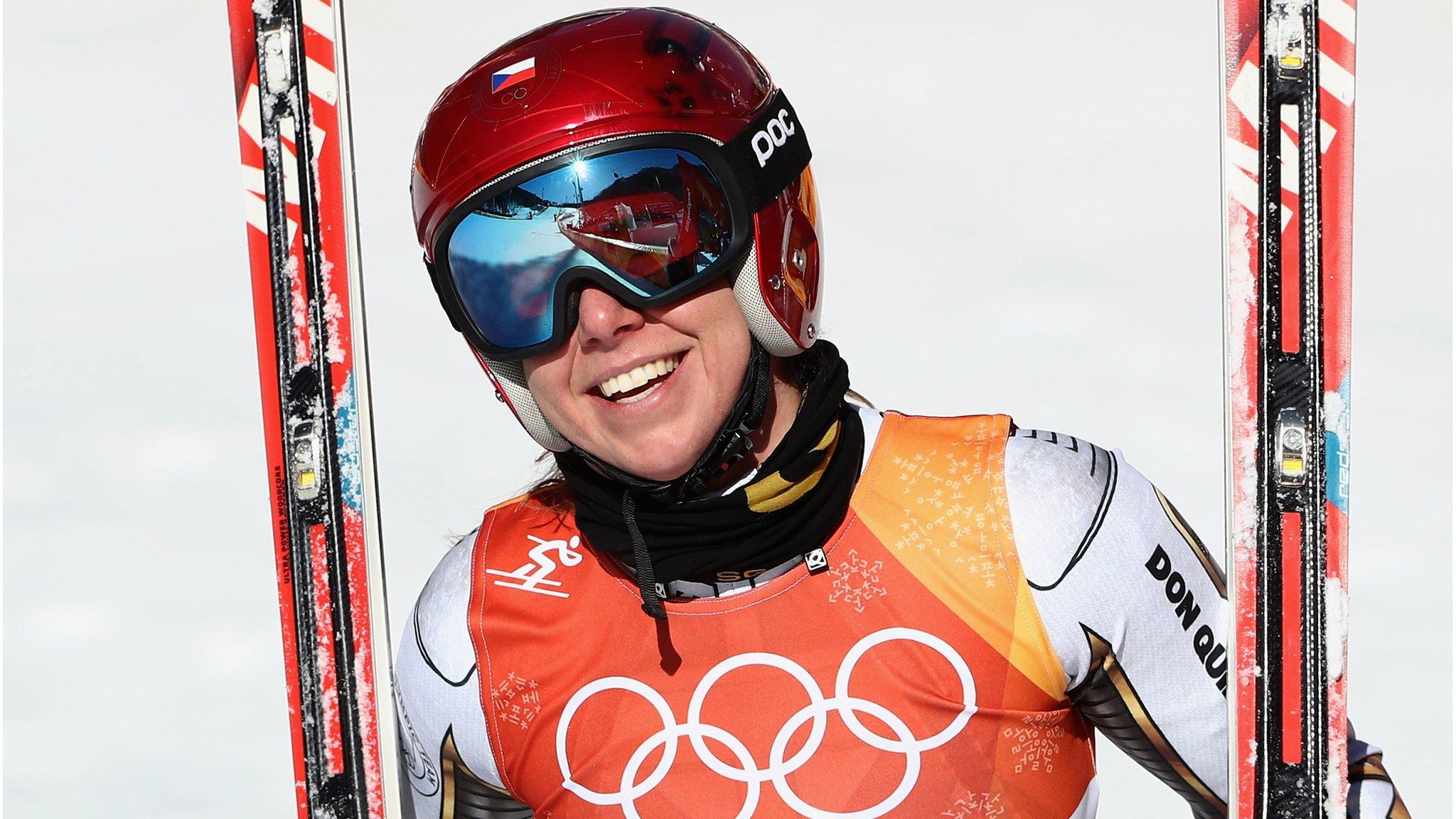 Winter Olympics: Lindsey Vonn misses medals in super G as Ester Ledecka earns shock win