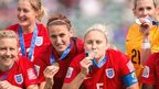 VIDEO: England collect their bronze medals