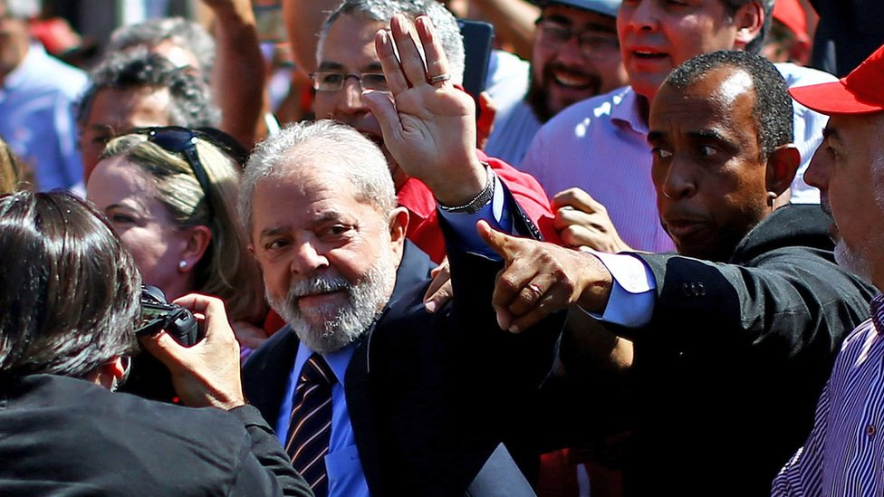 Brazil's ex-leader Lula appears in court in corruption case