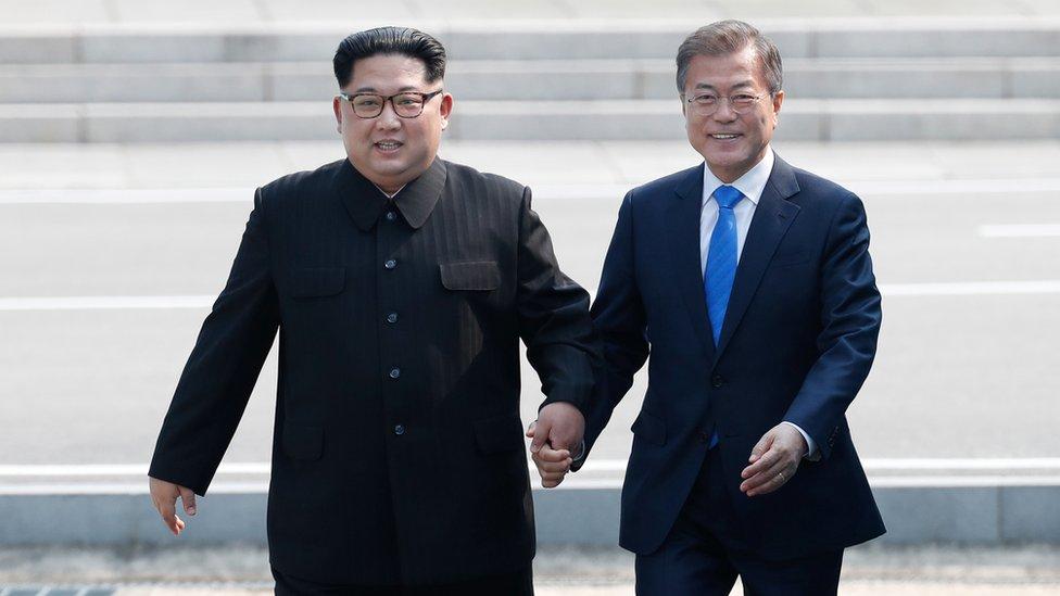 Premier sommet entre Kim Jong-un et Moon-Jae-in