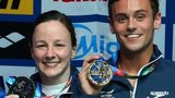 Rebecca Gallantree and Tom Daley