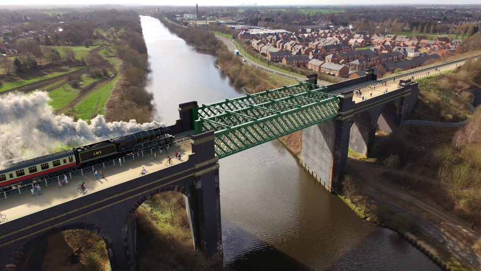 <![CDATA[Plan for £30m Salford to Trafford heritage railway proposed]]>