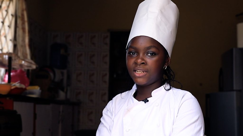 Nine-year-old Nigerian chef: 'I want to make food for the president'