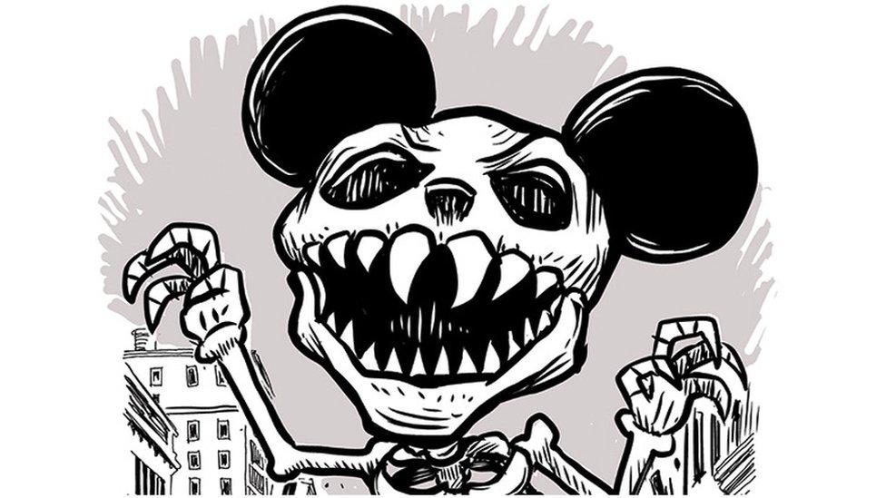 Mickey Muerto (Cortesía de Lalo Alcaraz)
