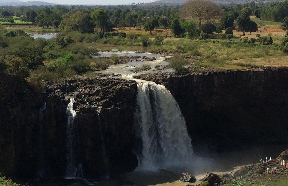 La caída del Nilo Azul.