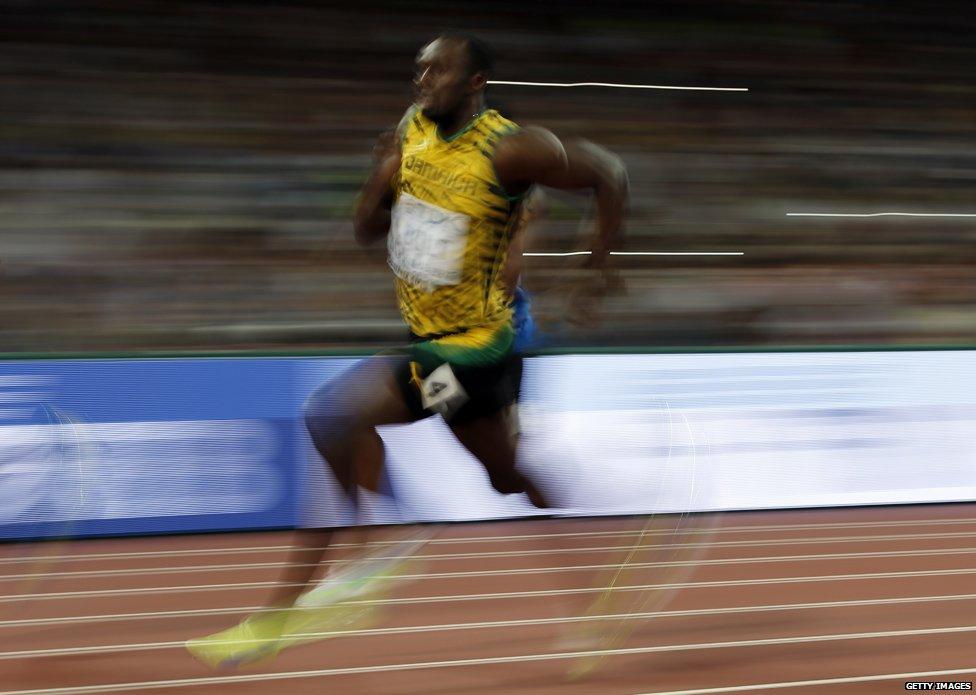 Usain bolt running speed