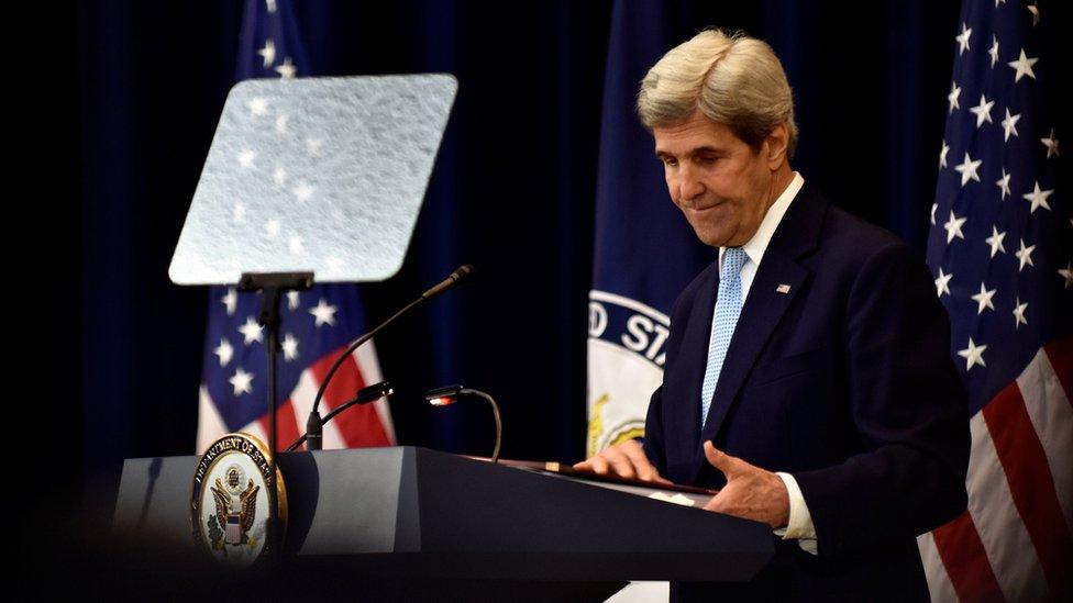 John Kerry en conferencia de prensa