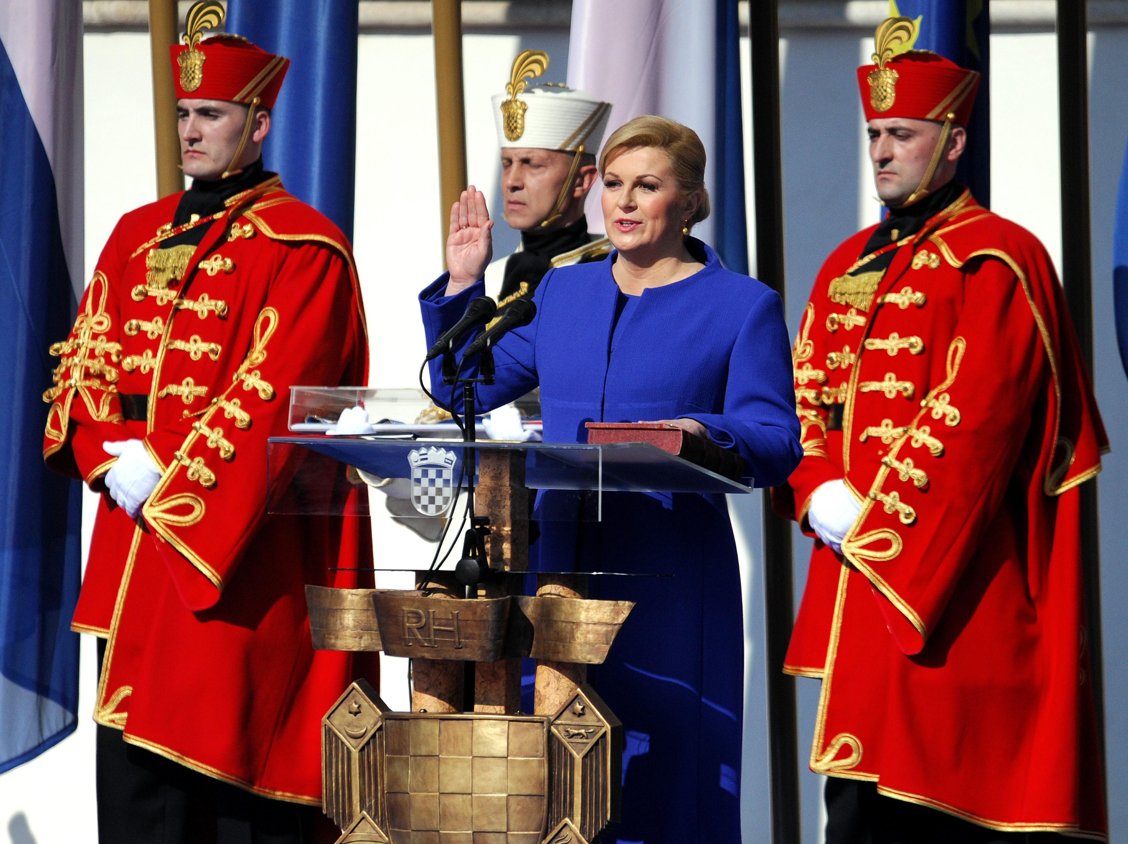Swearing in of Croatia's President Kolinda Grabar-Kitarovic