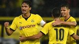 Dortmund's Henrikh Mkhitaryan, Mats Hummels and Julian Weigl celebrate
