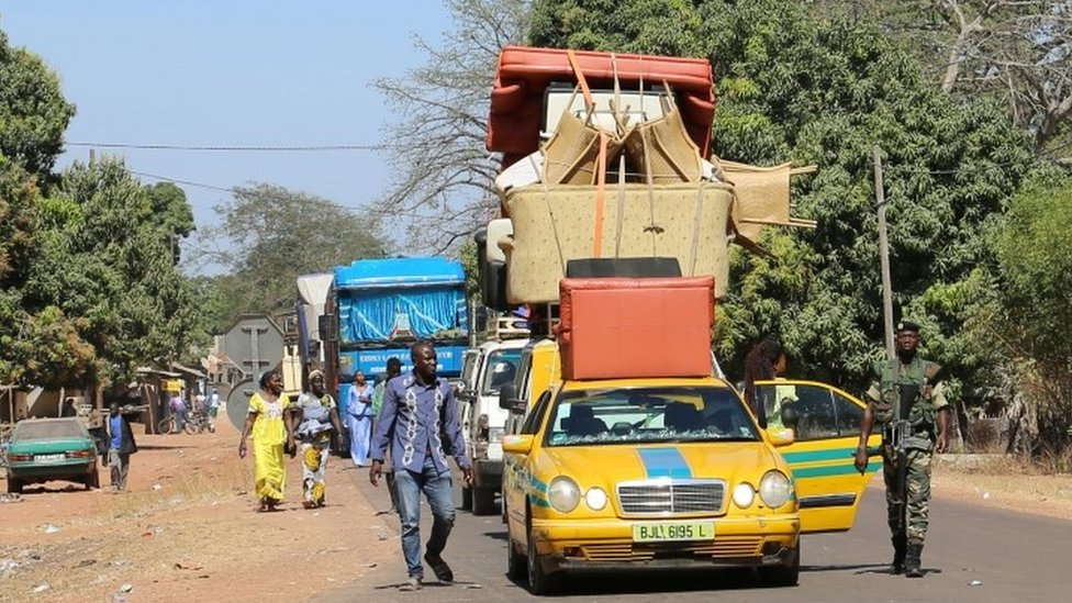 الحدود السنغالية الغامبية