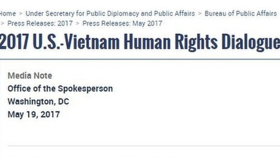 VN 'tăng việc quản thúc' trước đối thoại nhân quyền