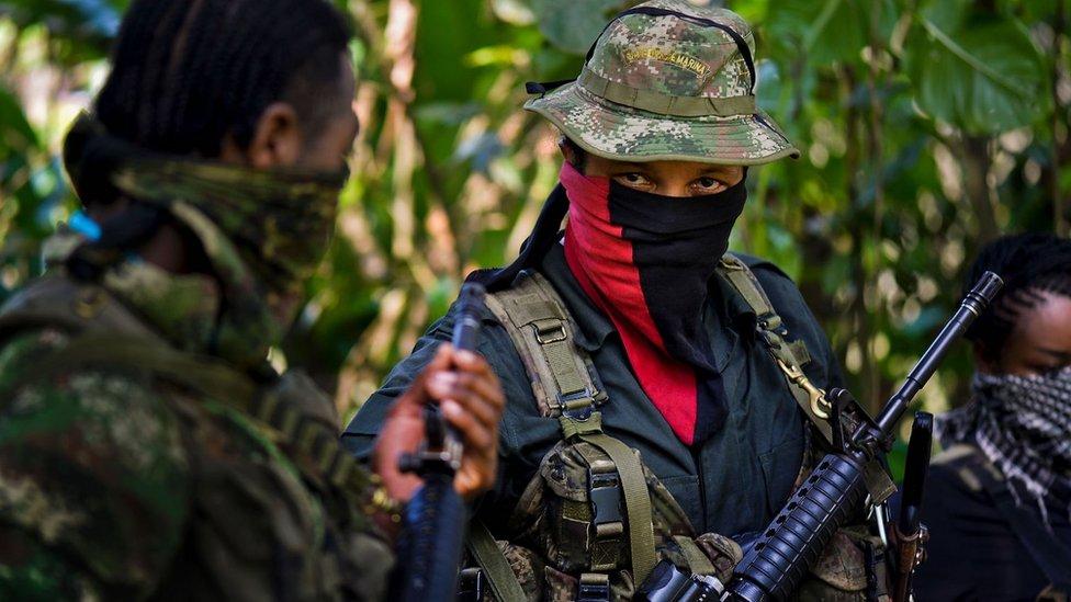 Miembros del ELN en el departamento de Chocó, en el noroccidente del país.