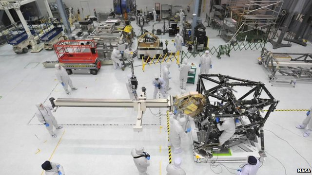 Scientists working on the James Webb Telescope