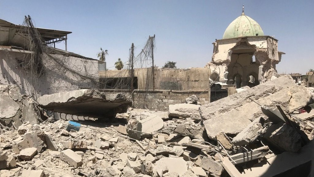 Iraqi forces enter ruins of Mosul Great Mosque of al-Nuri