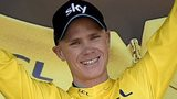 Chris Froome in the yellow jersey
