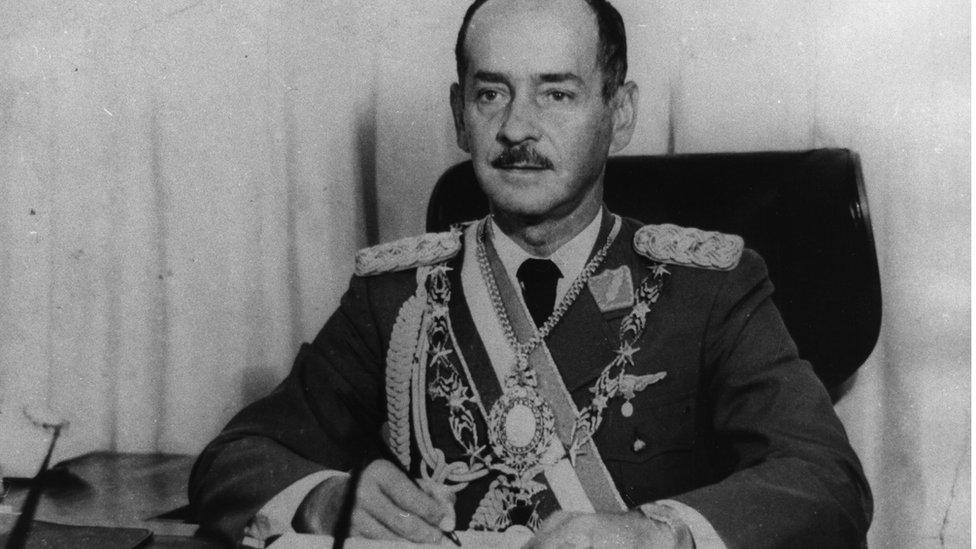 Late Bolivian leader Hugo Banzer